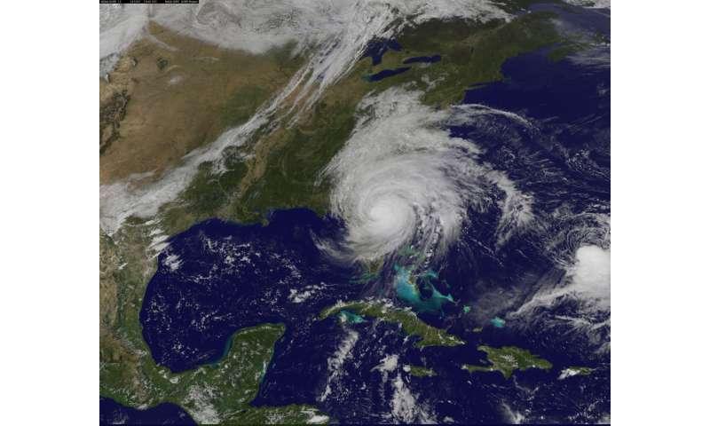 NASA looks at major Hurricane Matthew's winds, clouds