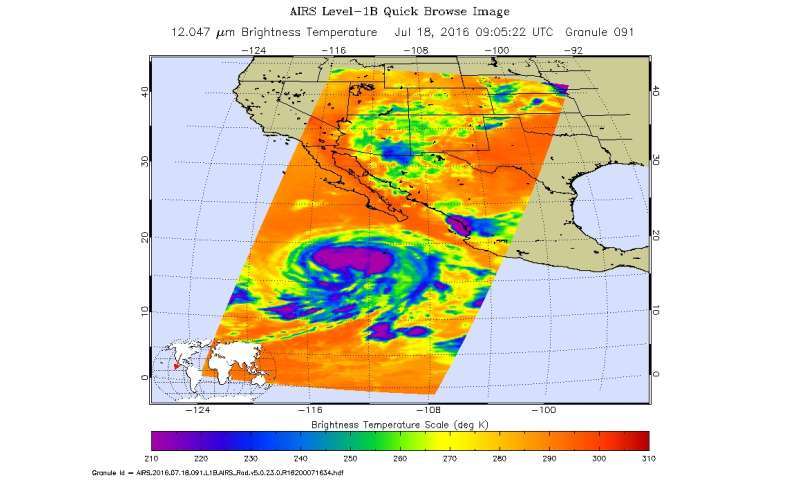NASA sees the hint of an eye in Tropical Storm Estelle
