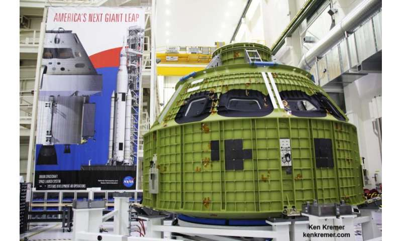 NASA'S Orion EM-1 crew module passes critical pressure tests