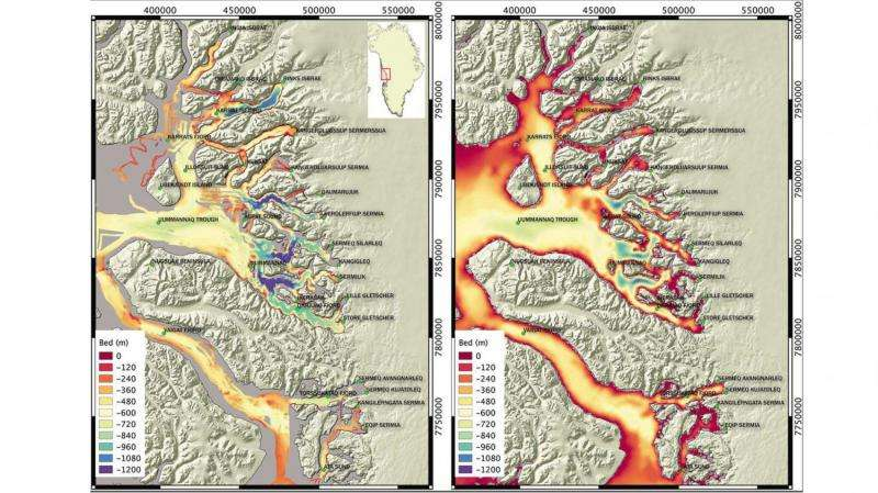 New maps chart Greenland glaciers' melting risk