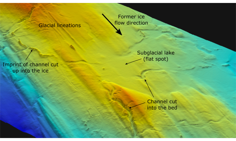 New research reveals secrets of former subglacial lakes in North America