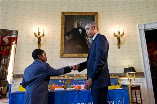 Obama touts robots, US ingenuity at White House Science Fair