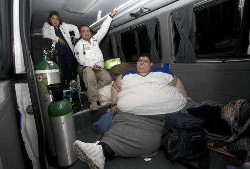Obese Mexican man removed from home