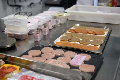 Picture shows ingredients at the laboratory of the Basque Culinary Center of San Sebastian on February 1, 2016