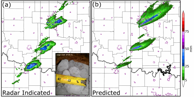 Predicting severe hail storms