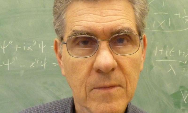 Quantum physicist Carl M. Bender wins 2017 Dannie Heineman Prize for Mathematical Physics