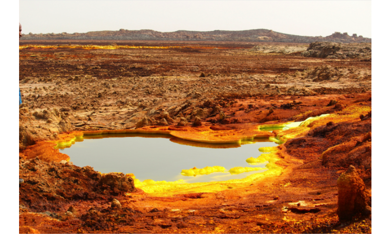 Rainbow-coloured hydrothermal systems show spectrum of extreme life on Earth