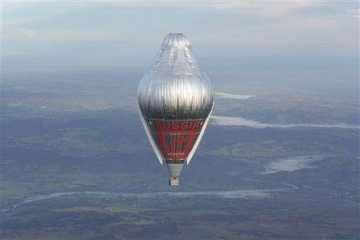 Russian balloon more than halfway to circumnavigating globe