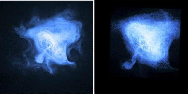 Scaled laboratory experiments explain the kink behaviour of the Crab Nebula jet