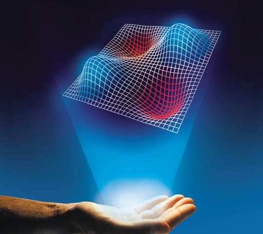 Solving a cryptic puzzle with a little help from a hologram