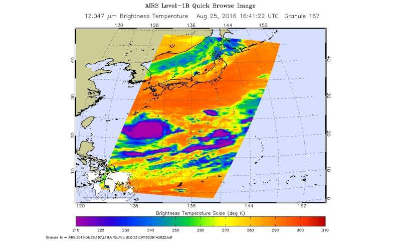 Typhoon Lionrock threatening Japan