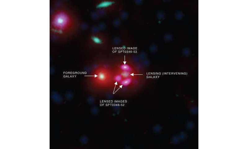 Under construction: Distant galaxy churning out stars at remarkable rate