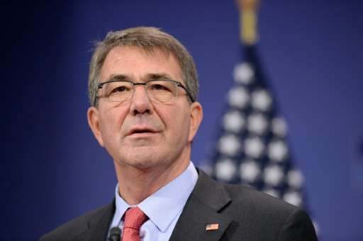 """US Secretary of Defence Ashton Carter, pictured on February 11, 2016, told a tech event in San Francisco, """"I'm not a believ"""