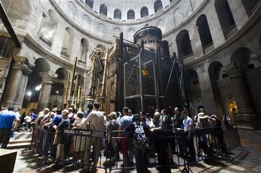 Works launched to restore Jesus' tomb in Jerusalem
