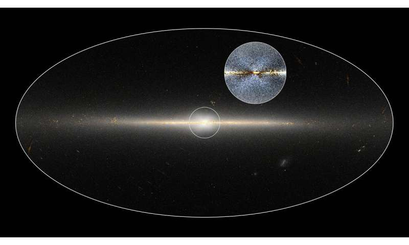 X marks the spot at the center of the Milky Way galaxy