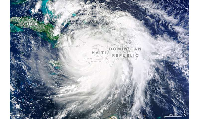 NASA sees Hurricane Matthew heading for the Bahamas