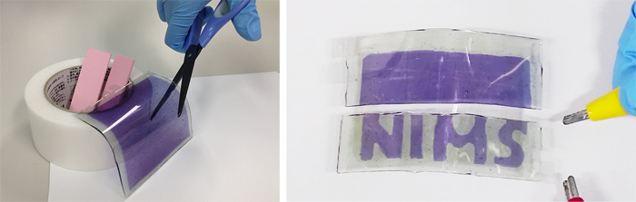 Researchers develop cuttable display sheets