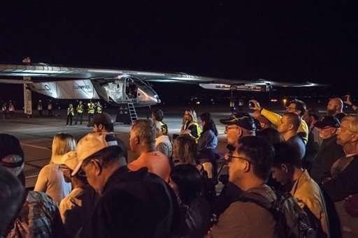 Solar plane on global trip completes Arizona-to-Oklahoma leg