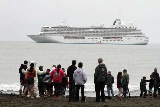 Giant cruise ship makes historic voyage in melting Arctic