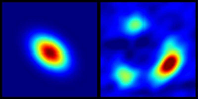 Gravitational lens zooms in on why some quasars have the radio turned down