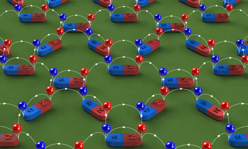 Scientists create 'rewritable magnetic charge ice'