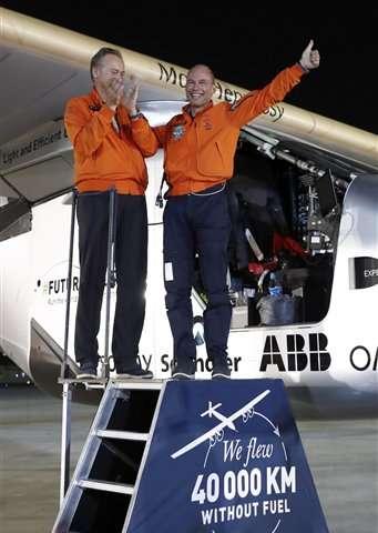 Historic solar flight marks first round-the-world journey