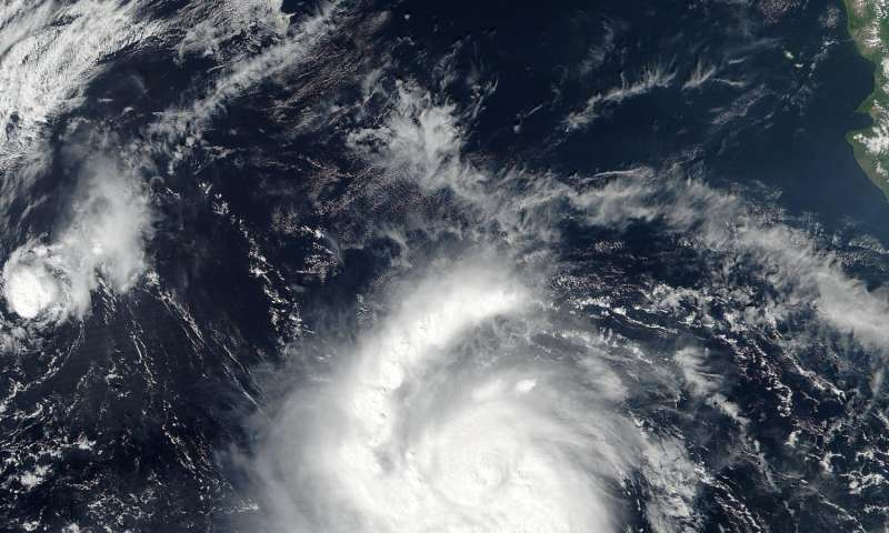 NASA sees Hurricane Seymour becoming a major hurricane