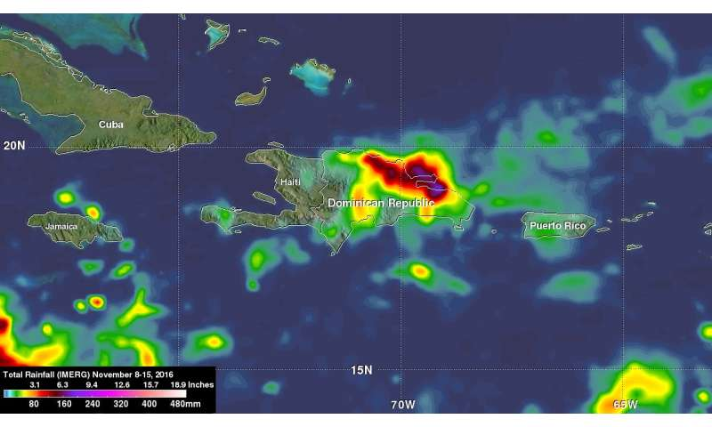 NASA analyzes heavy rainfall over Hispaniola