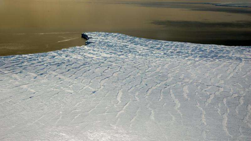 Antarctic ice safety band at risk