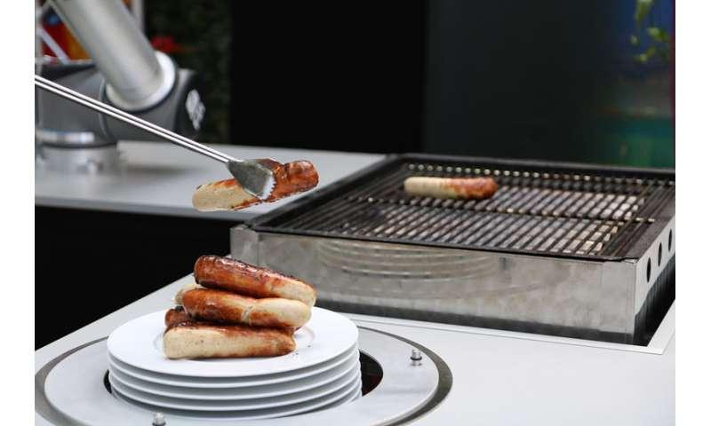Autonomous grilling robot fascinates guests at party