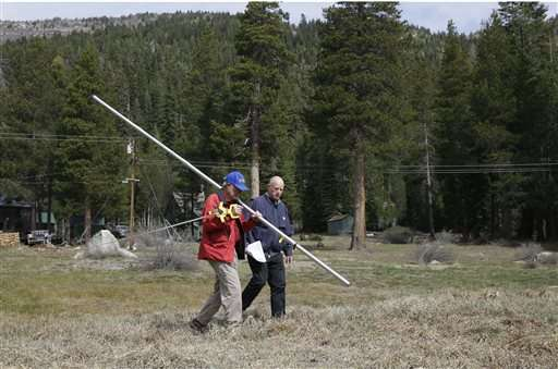 Average snowpack could prolong California water conservation (Update)