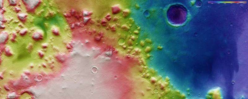 Buried glaciers on Mars