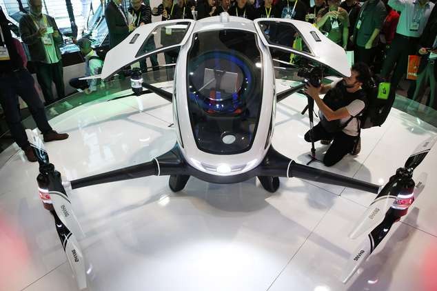 Chinese drone maker unveils human-carrying drone