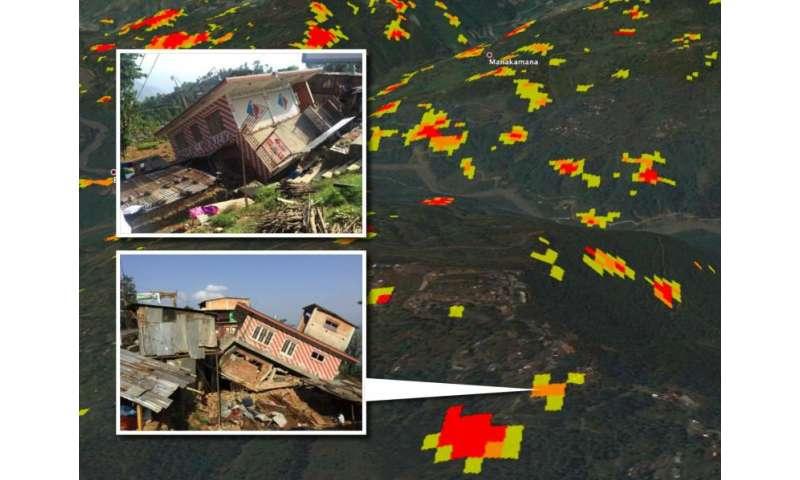 NASA damage maps may help in future quakes on satellite puerto rico, satellite street view, satellite aerial,