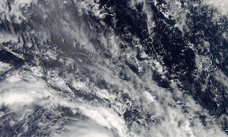 NASA's Aqua satellite sees Tropical Cyclone 18P form West of Vanuatu