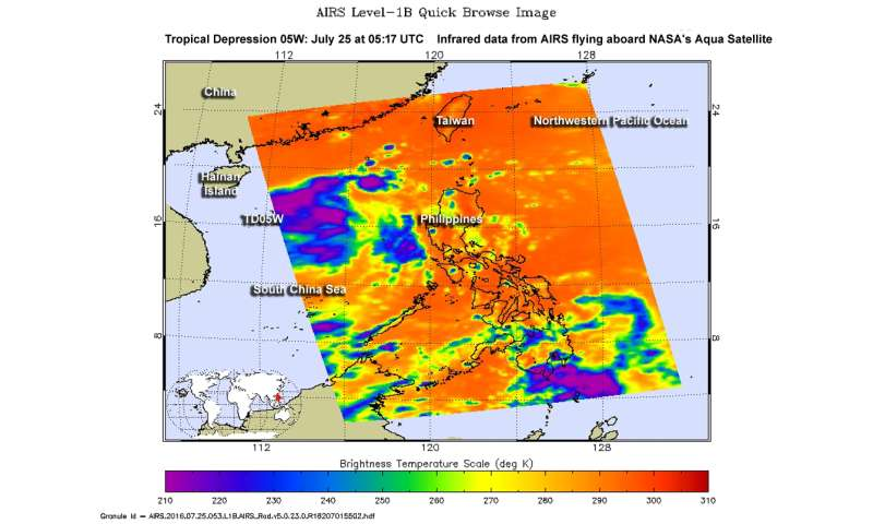 NASA sees formation of Tropical Depression 05W in infrared