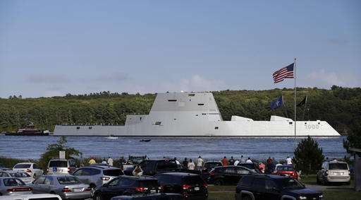 Navy's futuristic destroyer makes port call in Rhode Island