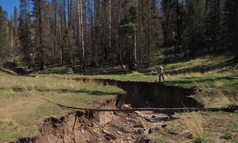Post-wildfire erosion can be major sculptor of forested western mountains