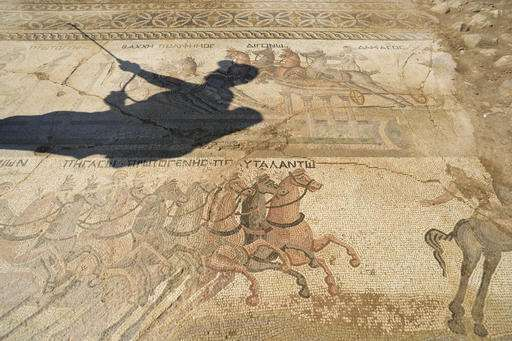 Rare 4th-century mosaic of chariot race found in Cyprus
