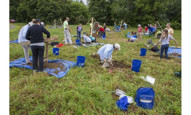 Scientists at work: Public archaeologists dig before the construction crews do