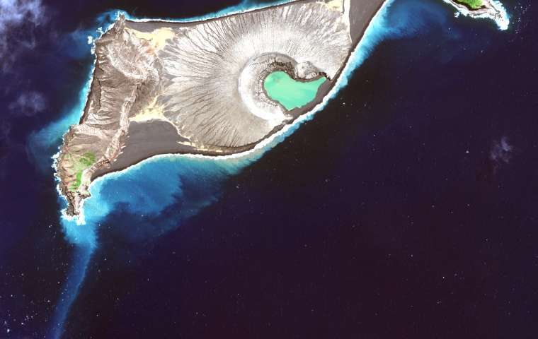Scientists map a new island volcano