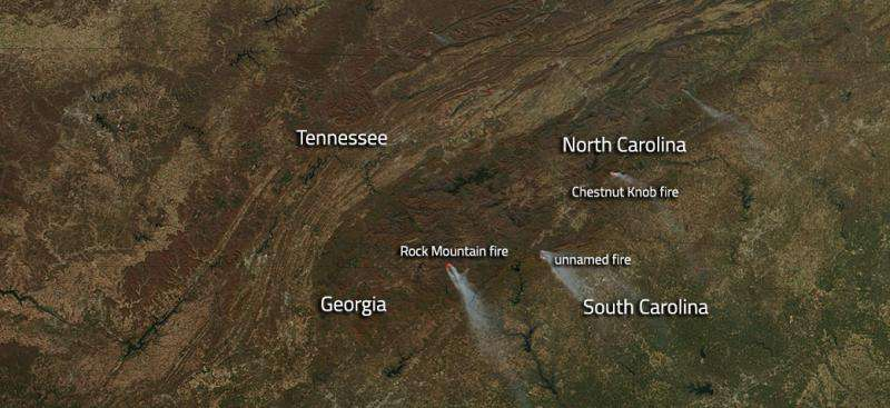 Southeastern wildfires are still blazing