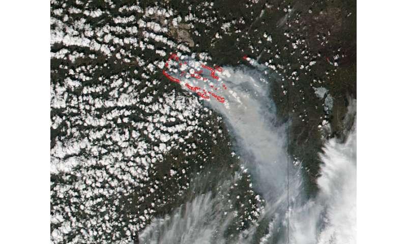 Suomi NPP satellite continues to monitor Alberta's huge wildfire