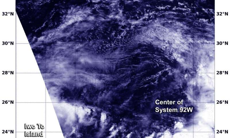 Tropical Depression 14W gets absorbed by system 92W