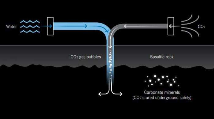 Turning CO2 to stone