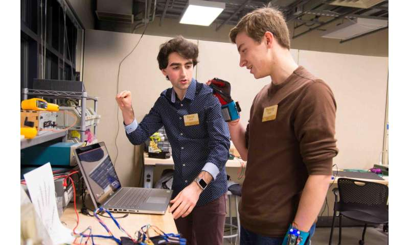 Two undergrads win Lemelson-MIT Student Prize for gloves that translate sign language