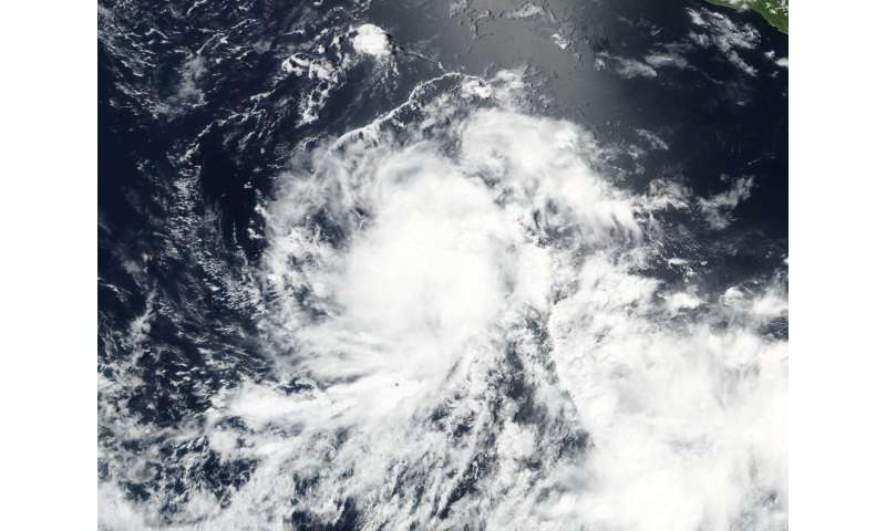 NASA sees Tropical Depression 4E form