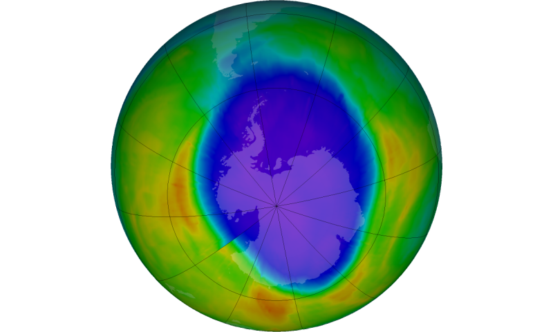 2016 Antarctic ozone hole attains moderate size, consistent with scientific expectations