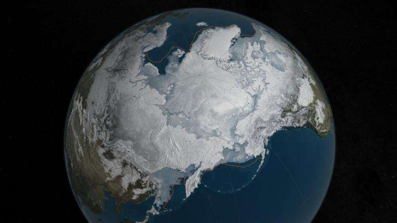 2016 Arctic sea ice wintertime extent hits another record low