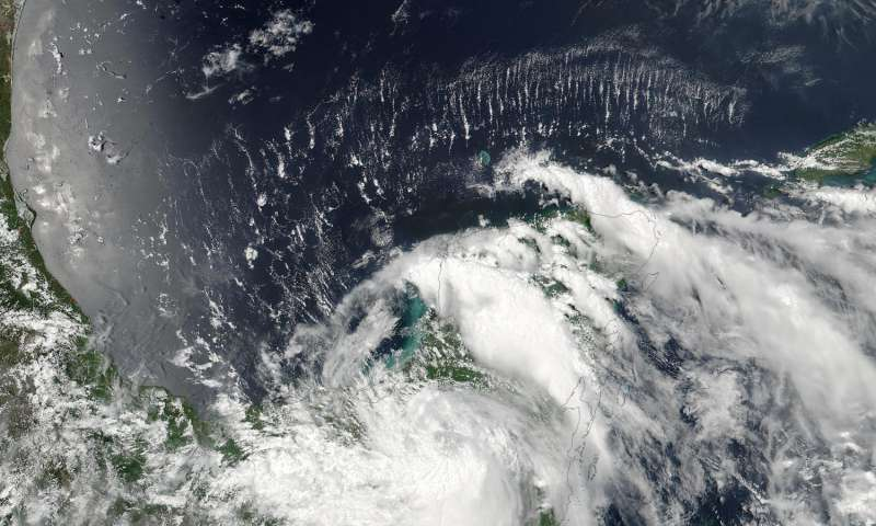 NASA sees Tropical Storm Earl over Mexico